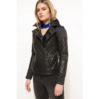 Women's Faux Leather Jacket H8455AZ.18SP.BK27