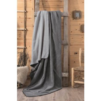 Cotton Box Double Cotton Blankets Gray-Gray CTN-COTTON-BATTANIYE-GRI-GRI