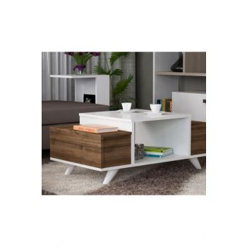 Eriberto Coffee Table White-Walnut 8681506224330