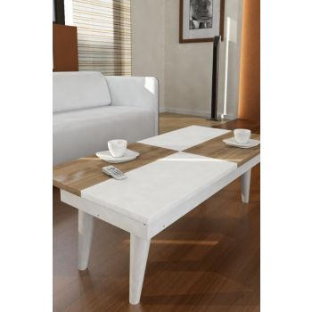 Castrum Middle Coffee Table White-Walnut 8681506221445 8681506221445
