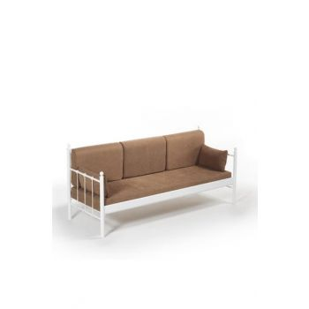 Lalas Dk Sofa Cedar Three-Seater Sofa White-Brown LLSDK200BK