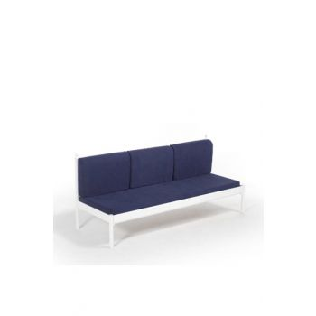 Mitas Sofa Cedar Three-Seater Sofa White-Navy Blue MTSSS200BL