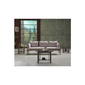 Lalas DKS Metal Sofa Cedar Triple Sofa Brown-Smoked LLSDKSSS70KF