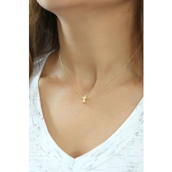 Women's 925 Sterling Silver Three-dimensional Letter Necklace Omr1312