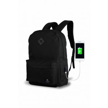Black Unisex Backpack MV8664