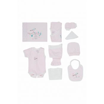 Baby Girl Hospital Outfit 10pcs Bedding Set Pink T575 BBBKT575PEMBE