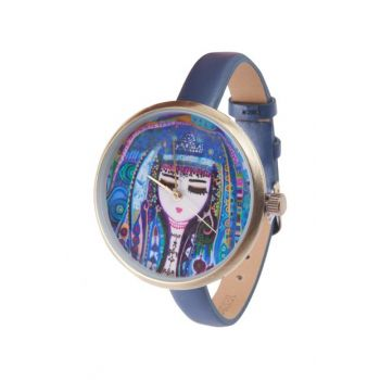 Blue Water Leather Wristwatch by Canan Berber BGD10184170147