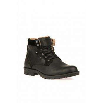 Genuine Leather Black Men Boots 8322 225221