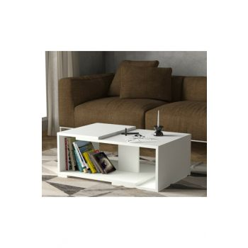 Modern Middle Coffee Table White 8681506223401