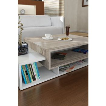 Tab Middle Coffee Table White-Cordoba 8681506221407