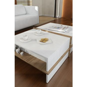 Plus Coffee Table White-Walnut 8681506221414
