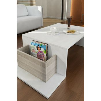 Pot Medium Coffee Table White-Cordoba 8681506221353