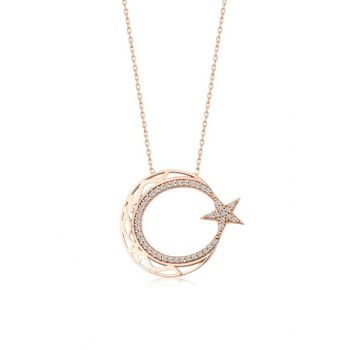 Women Rose 925 Sterling Silver Starfish Necklace MA_KL_1030