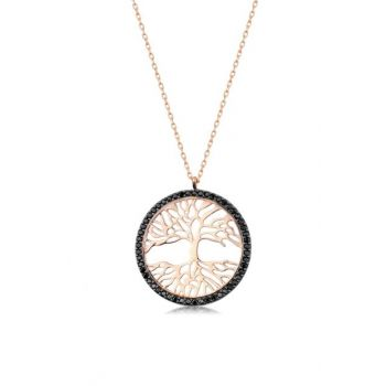 Women Rose 925 Sterling Silver Tree of Life Necklace MA_KL_1001