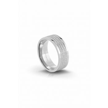 Women's Silver Steel Ring LVR318B