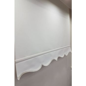 200X200 Flat Ecru Roller Blinds MS1202 8605481034610