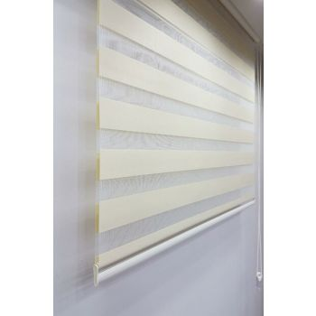 100 x 200 Roller Zebra Curtain Cream MZ509 8605480579346