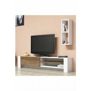Pina White Walnut Tv Unit PUTV4037