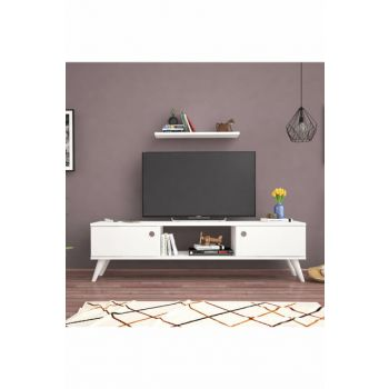 Bena Furniture Emre White 140 Cm Tv Stand BENA140B