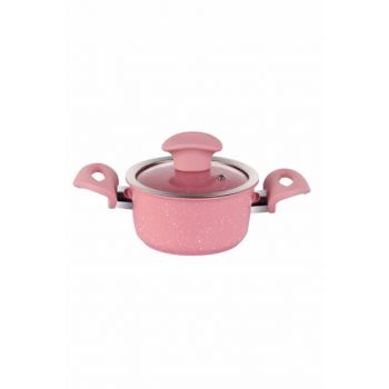 Crown Granite Plus Crushing Deep Cooker 12 Cm Pink TAC-3296