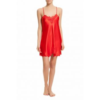 Women's Red Satin Nightgown MSD-427 MSD-427