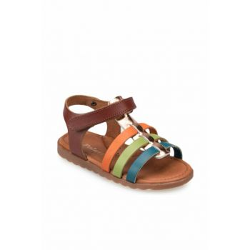 91.510032.b Brown Girls' Leather Sandals 000000000100368861
