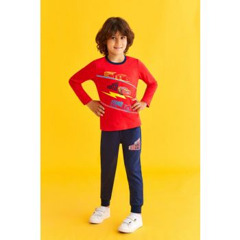 Licensed Boy Children Pajamas Set Light Red 3-8 Years 10922