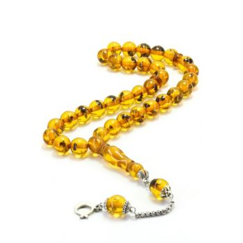 Fossil Powder Amber Rosary T100147
