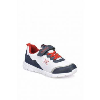 White Navy Blue Men's Walking Shoes 000000000100242423