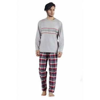 Men's Gray Strong Lines Pajamas Set 002-000277