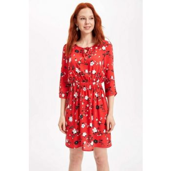 Women's Patterned Dress H2126AZ.19SP.RD2