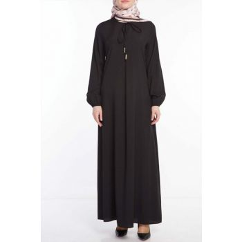 Women Dress Black US-0200-01 NASSAH-0200