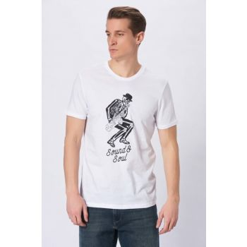 Men's Sound Printed T-Shirt White 065377-620