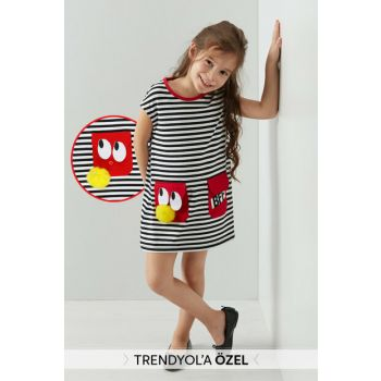 Bff Striped Dress CFF-19Y1-039