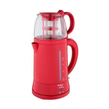 King K-8500 Teamax Tea Machine with Teapot - Red K-8500K