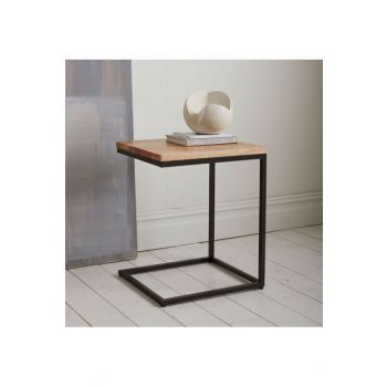 Solid Wood Oak Color 40x40cm Side Table CPT2004-40