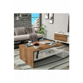 Bena Furniture Tulip Walnut White Medium Coffee Table BENA702CB