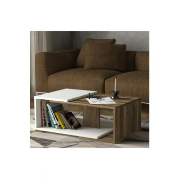 Modern Middle Coffee Table White-Walnut 8681506223418