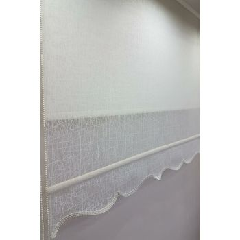 120X200 Double Mechanism Tulle Curtain and Roller Blinds MT1084 8605480844370