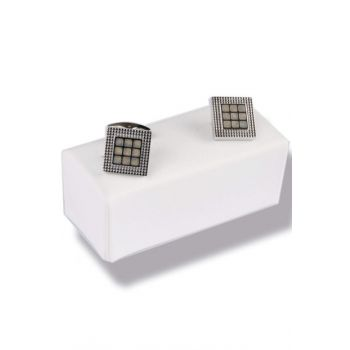 Silver Color Square Cufflink KD433
