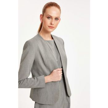 Women's Gray Melange Jacket 9SI780Z8 9SI780Z8