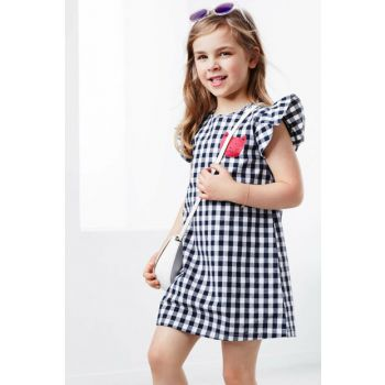 Kids Organic Cotton Dress Blue 95533