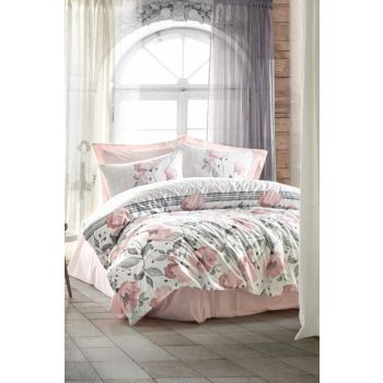 Ranforce Single Duvet Cover Juana Pink 8680108044339