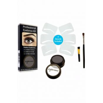 Eyebrow Kit - Professional Eyebrow Kit - Soft Black 3 gr 666799230044