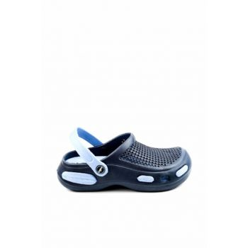 Navy Blue Light Blue Men's Slippers E087.M.000