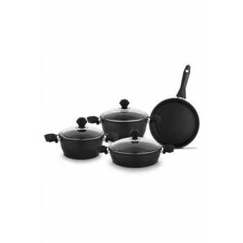Titanium 7 Piece Cookware Set - Black 12381