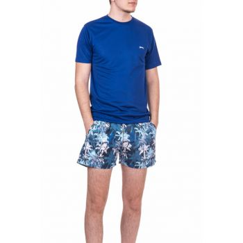 Men's Navy Blue Sea Shorts - Yaser - ST18SE030-400