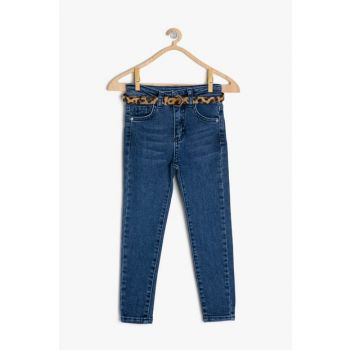 Blue Girl Child Pocket Detail Jean Pants 9YKG47749AD