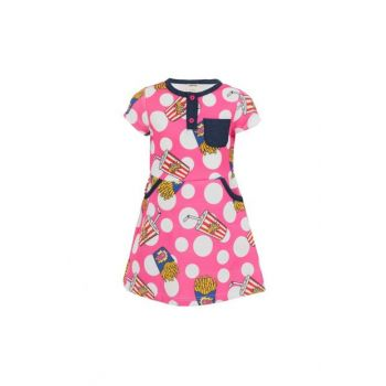 Girl Kids Short Sleeve Dress Fuchsia Sbbkcelb248_00-0054 SBB000000181