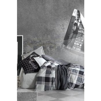Cotton Box Masculine Ranforce Single Bedding Set Ramos CTN-RF-MSC-TK-NT-RAMOS-ANTRASIT